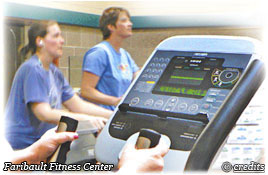 Citizens using fitness equipment at the Faribault Fitness Center